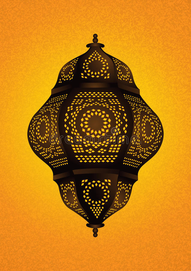 Härlig islamisk lampa för Eid/Ramadan Celebrations - vektor stock illustrationer