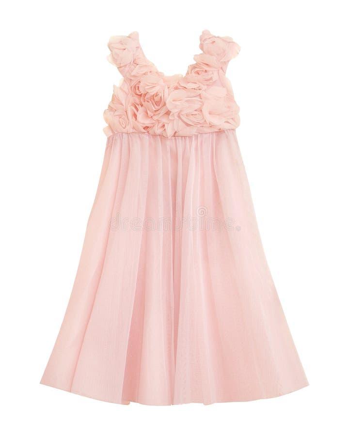 Härlig isolerad klänning för liten prinsessa royaltyfri bild