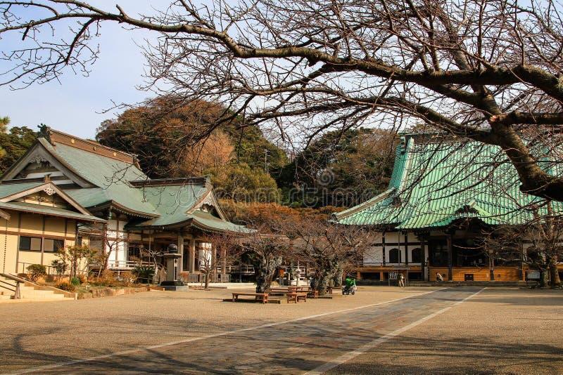 Härlig japansk tempel i Kamakura arkivbilder