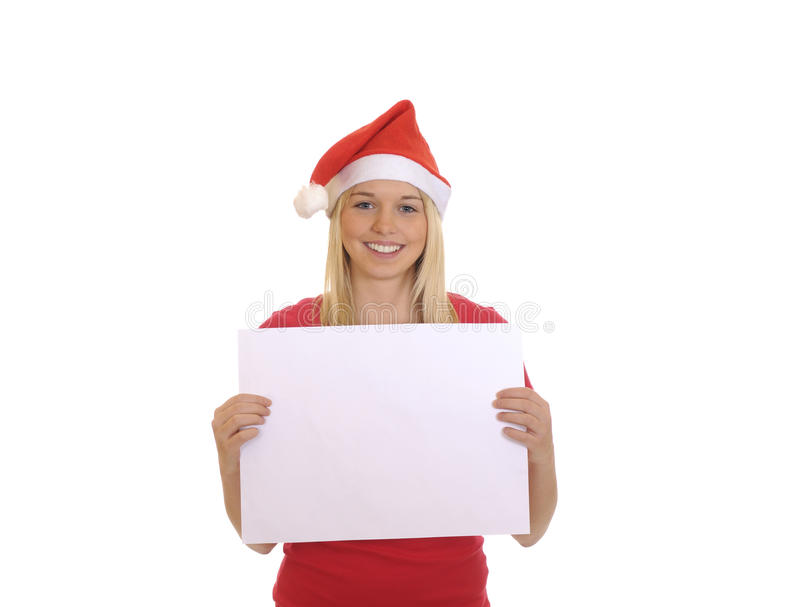 härlig julflicka royaltyfri foto