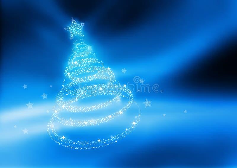 härlig jultree vektor illustrationer