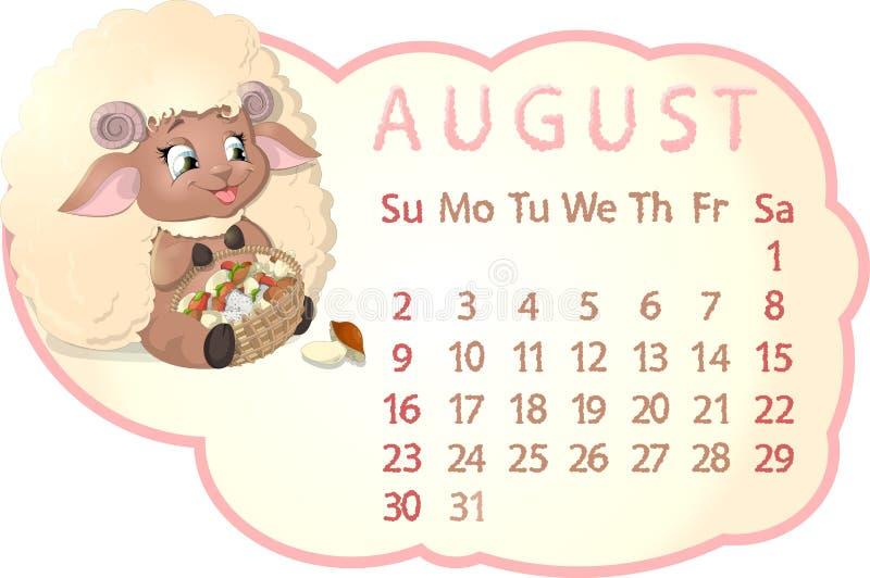 Härlig kalender royaltyfri illustrationer