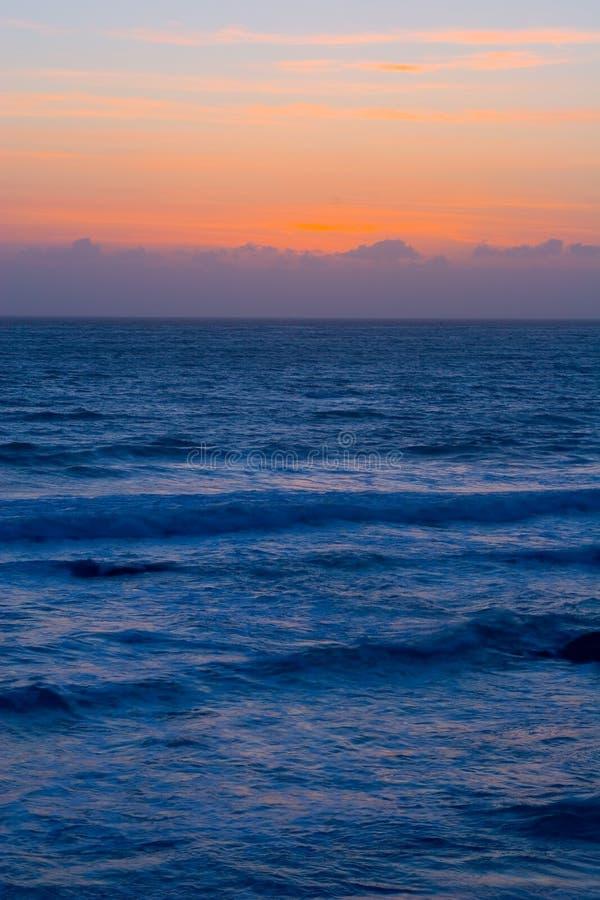 härlig Kalifornien solnedgång arkivfoton