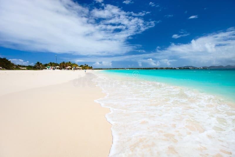 Härlig karibisk strand royaltyfria foton