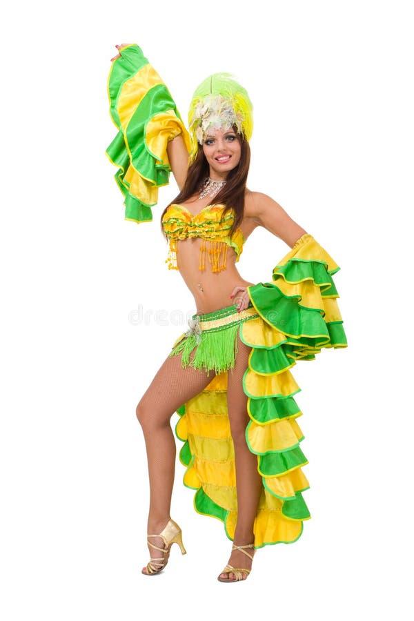 härlig karnevaldansare royaltyfria foton