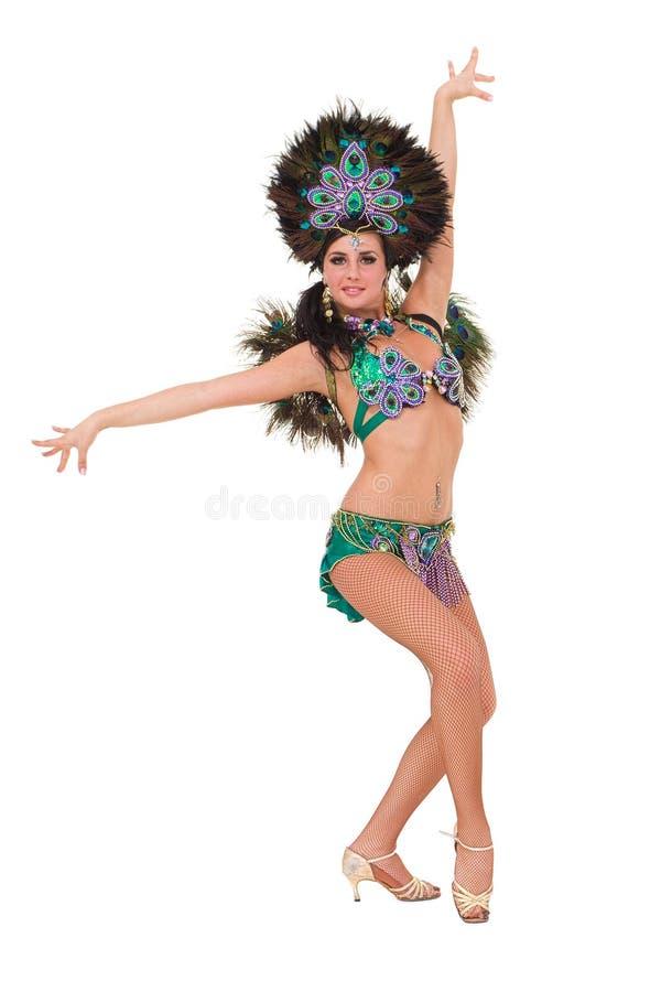 härlig karnevaldansaredans arkivfoton
