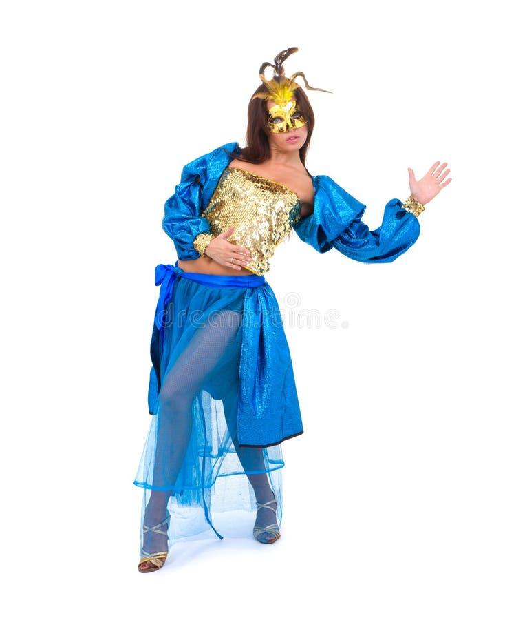 härlig karnevaldansaremaskering royaltyfri foto