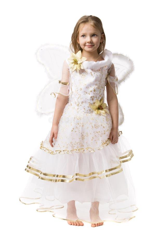 härlig klänningflicka little royaltyfria bilder