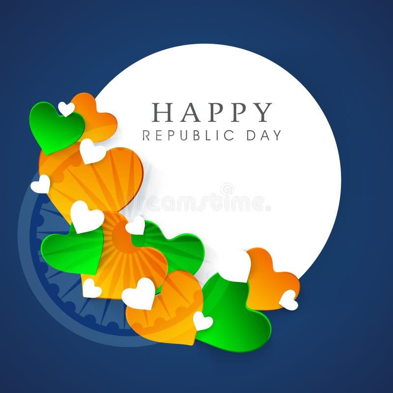 Härlig klibbig design för lycklig indisk republikdag royaltyfri illustrationer