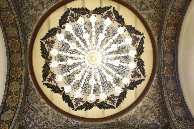 Härlig konst på taket av en kristen kyrka royaltyfria foton
