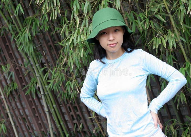 härlig korea kvinna royaltyfri fotografi