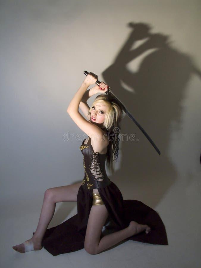 Härlig krigareprinsessaleksak arkivbilder