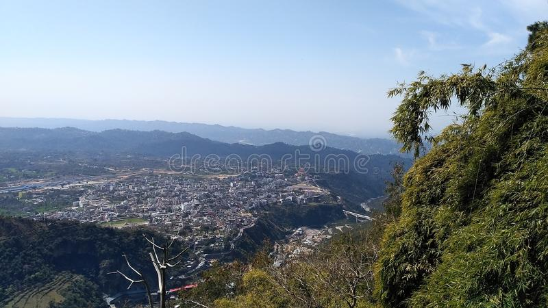 Härlig kullesida Mountain View royaltyfri fotografi