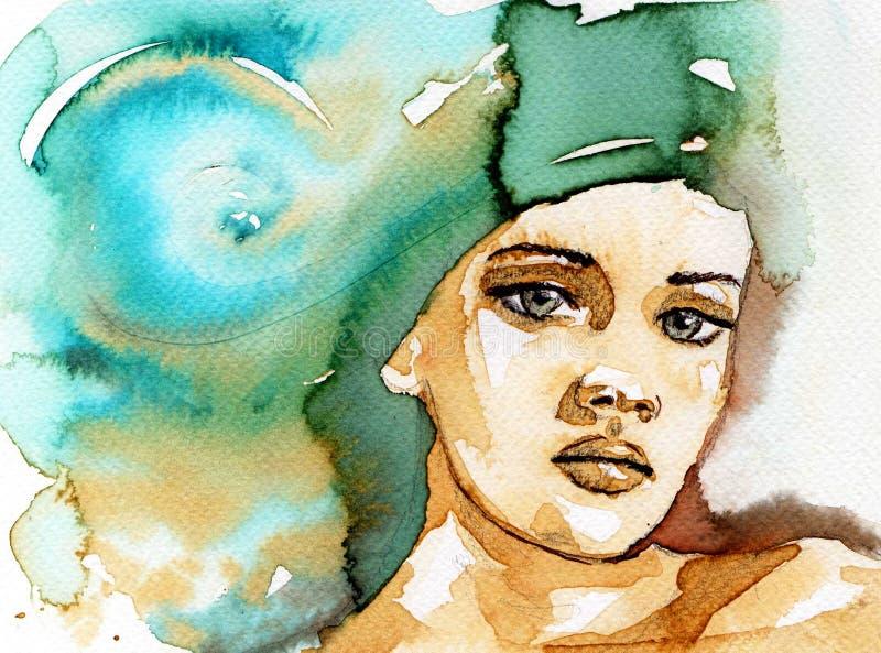Härlig kvinna royaltyfri illustrationer