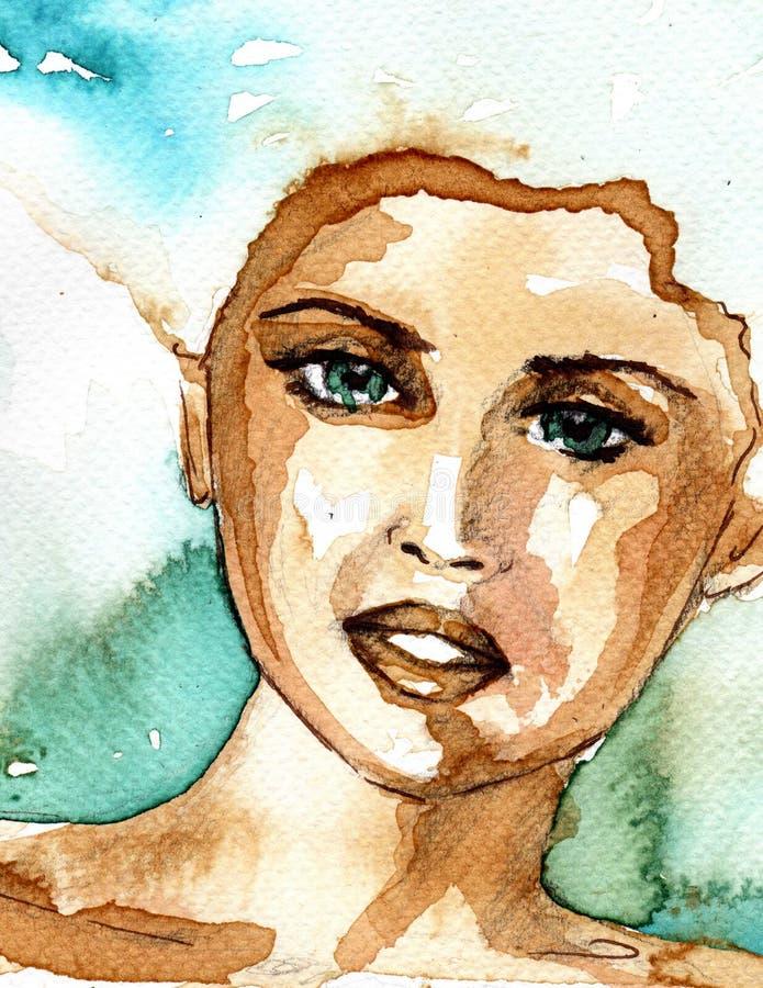 Härlig kvinna vektor illustrationer