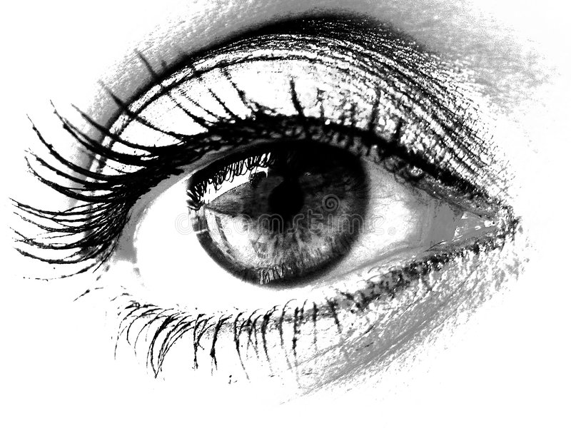 härlig kvinna för öga s vektor illustrationer