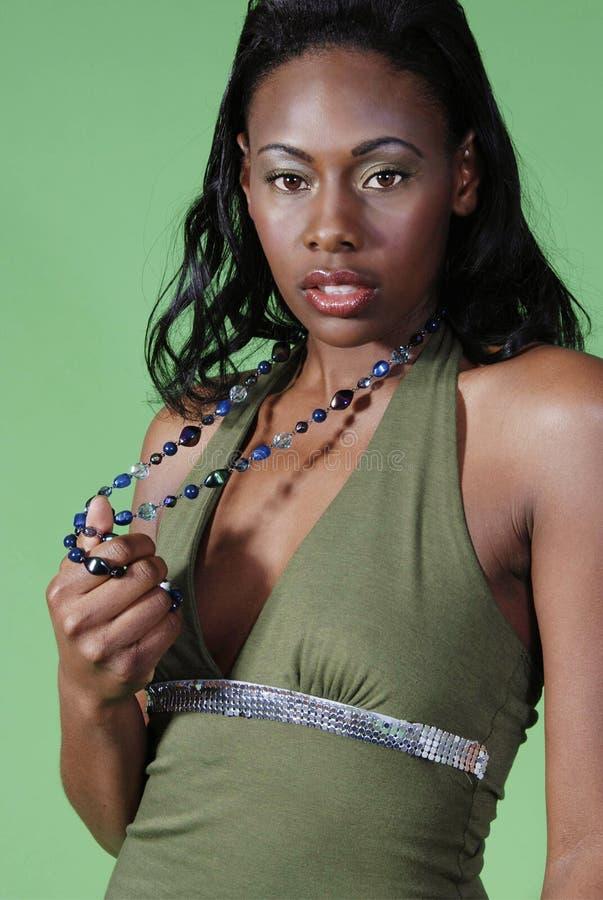 härlig kvinna för afrikansk amerikan royaltyfria foton