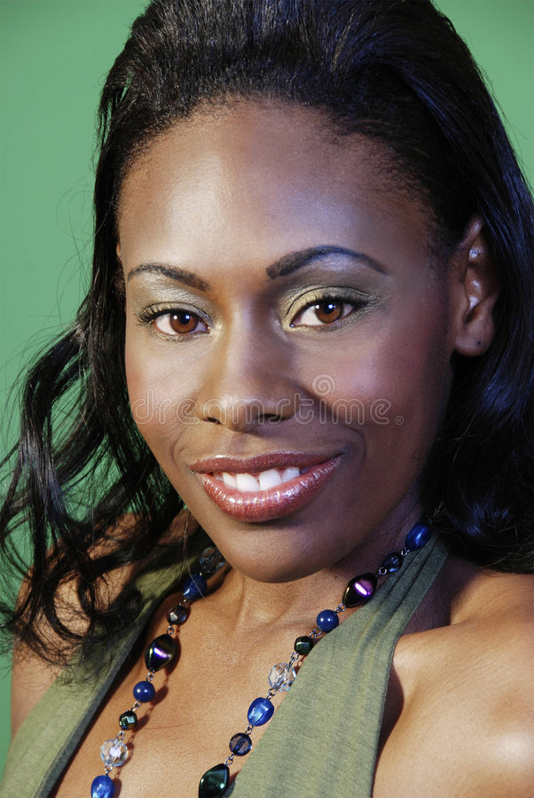 härlig kvinna för afrikansk amerikan arkivbilder