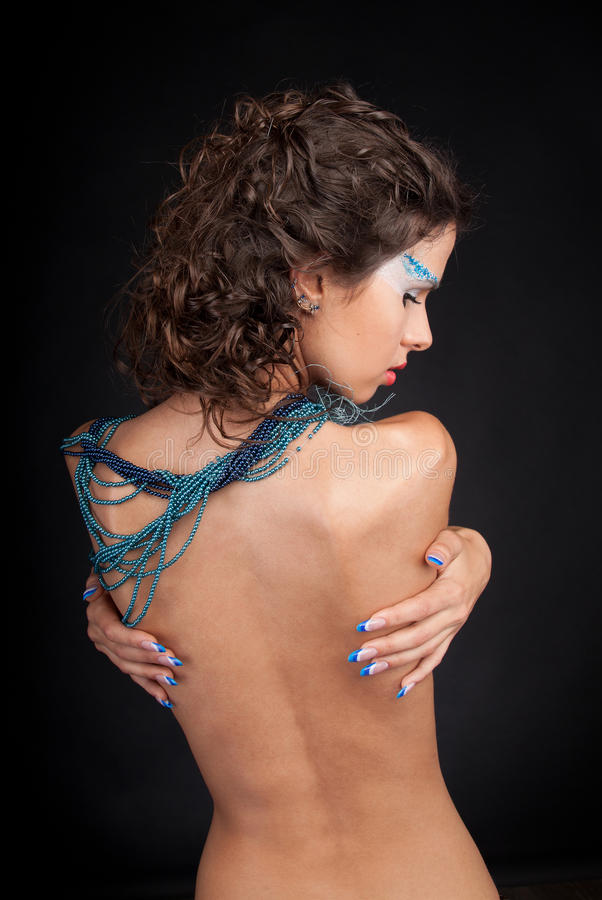 härlig kvinna för carly mörkt hår royaltyfri foto