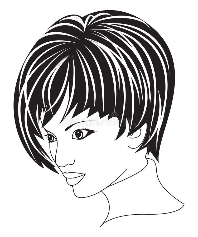 Härlig kvinna med kort hår royaltyfri foto