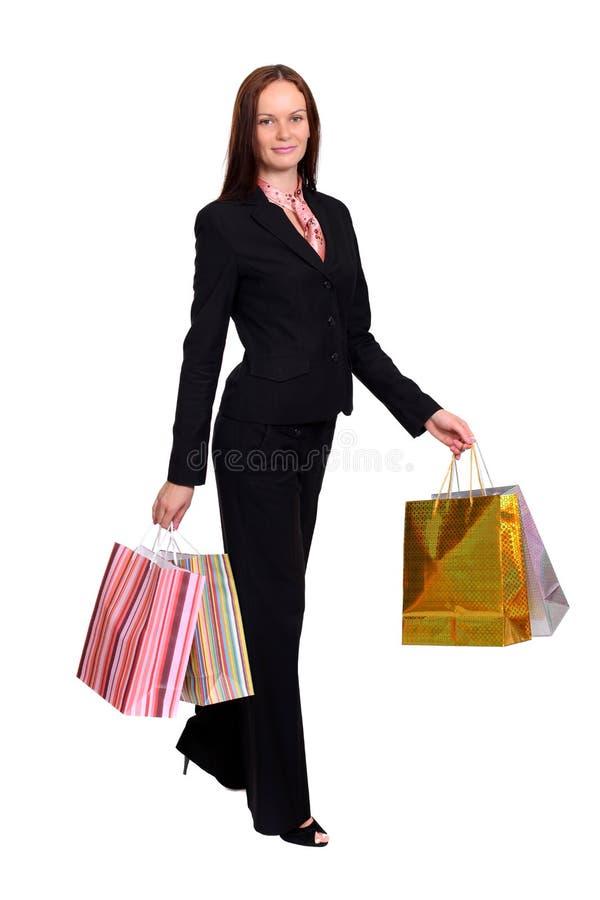 Download Härlig Kvinna Med Shoppingpåsar Arkivfoto - Bild av modell, kvinnlig: 37346354