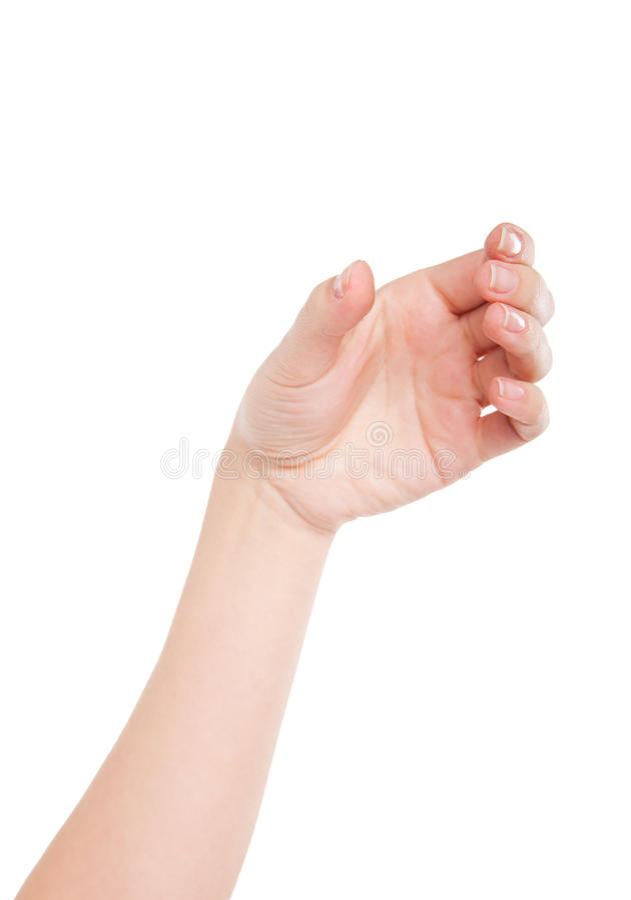 Härlig kvinnahand som rymmer osynligt exponeringsglas royaltyfri bild