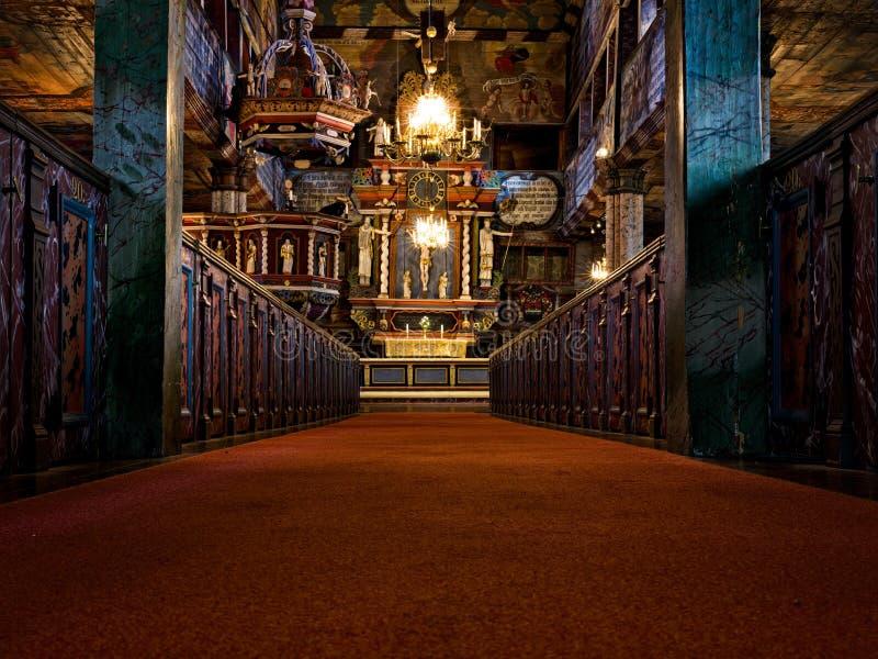 härlig kyrka royaltyfria bilder