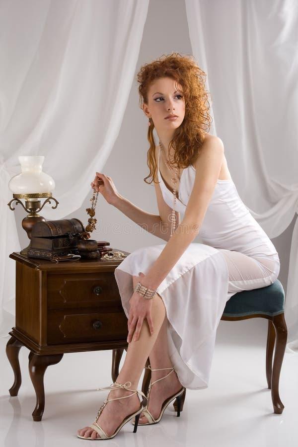 härlig lady arkivfoton