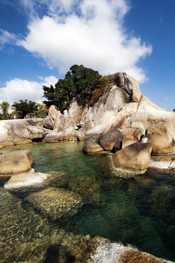Härlig Lamai strand, Ko Samui, Thailand royaltyfria bilder