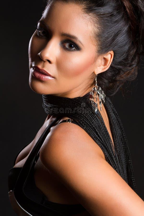 Härlig latin - amerikansk kvinna arkivfoto
