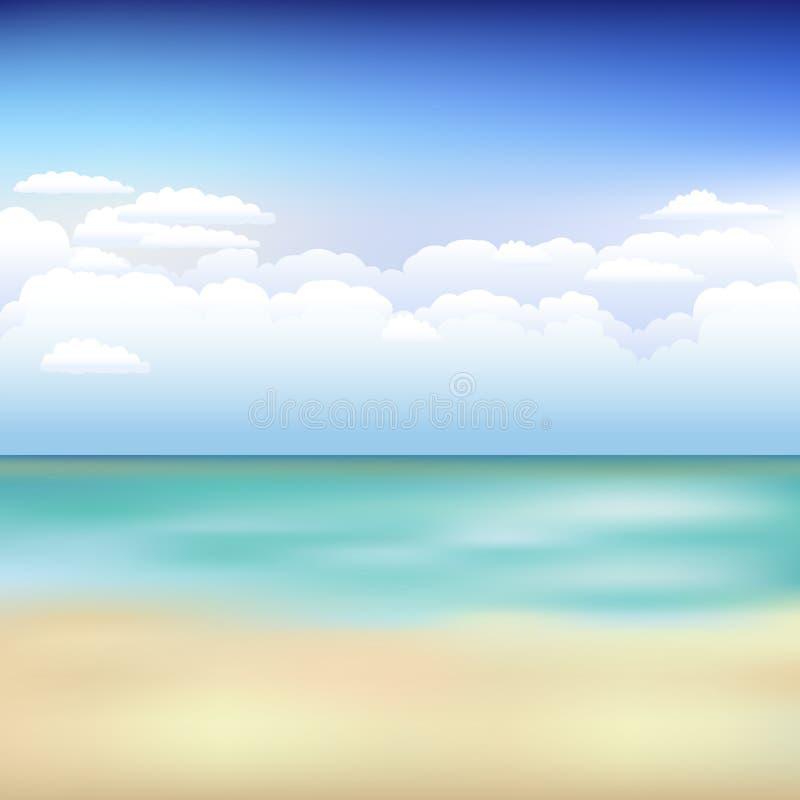 härlig liggandevektor för strand stock illustrationer