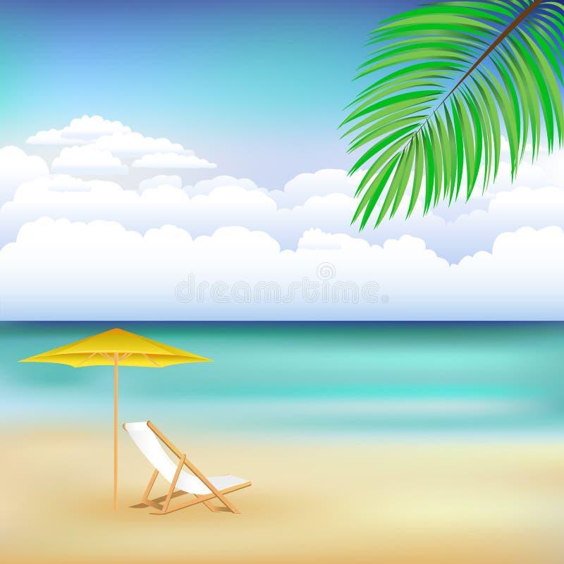 härlig liggandevektor för strand royaltyfri illustrationer