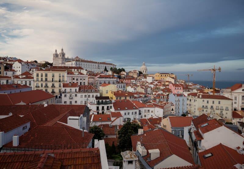 Härlig Lissabon stad arkivfoton