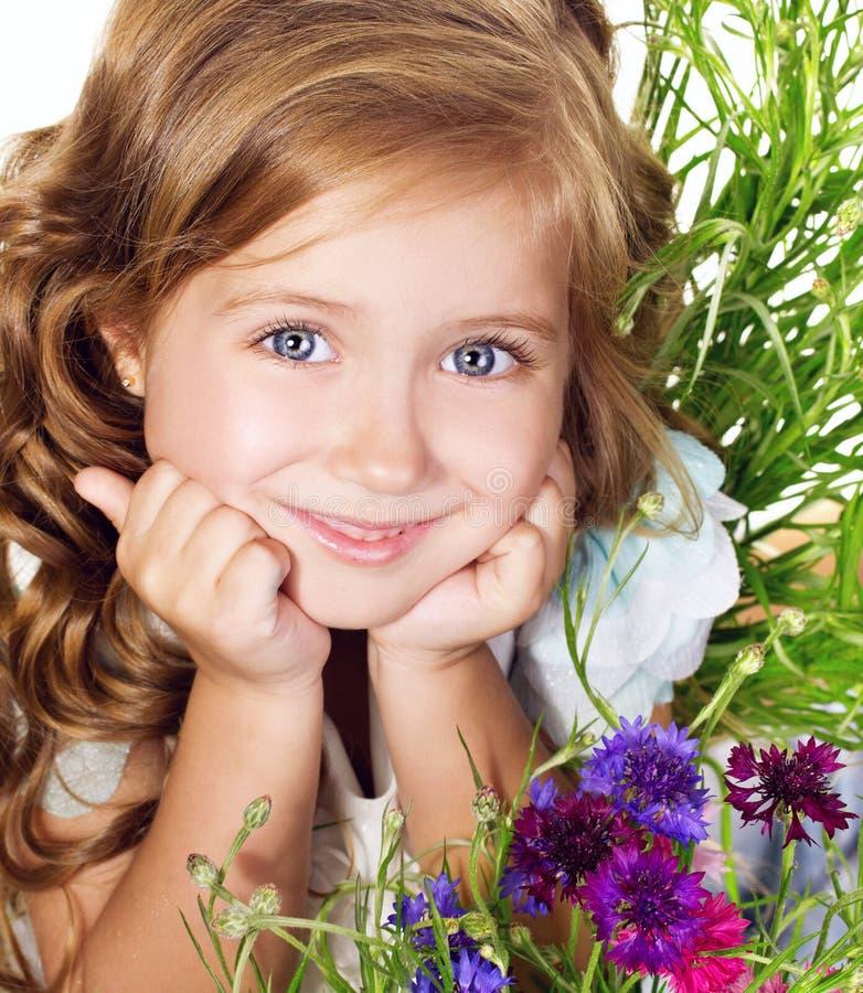 Härlig liten flicka royaltyfria foton