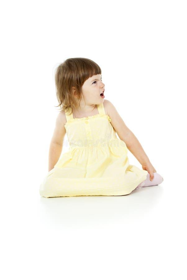 Härlig liten flicka royaltyfri fotografi