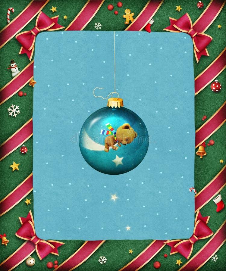 Härlig ljus festlig ram stock illustrationer