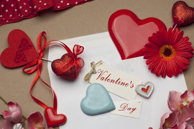 Härlig ljus tillbehör för dag för valentin` s arkivbilder