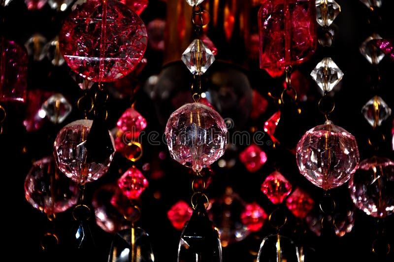 Härlig ljuskronakristallbakgrund arkivfoto