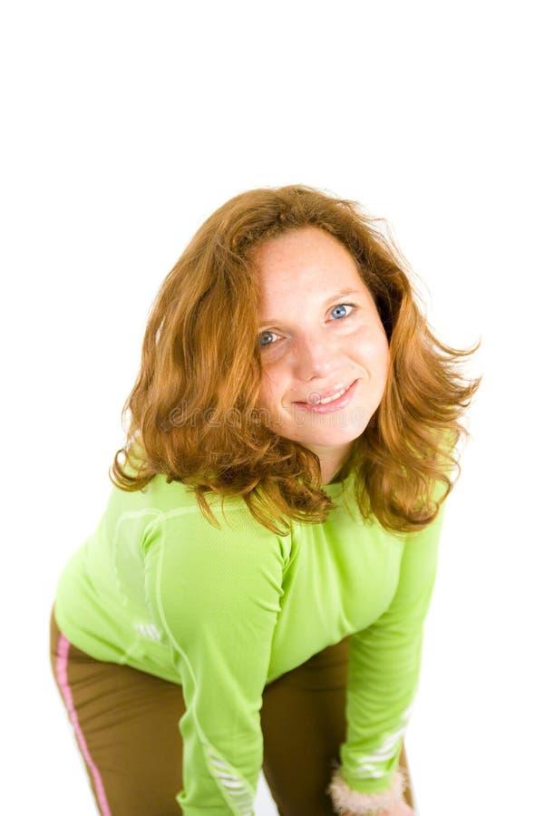 härlig lycklig kvinna fotografering för bildbyråer