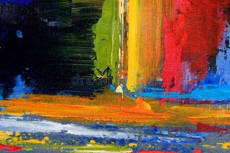 Härlig målarfärg plaskar färger med textur royaltyfri bild
