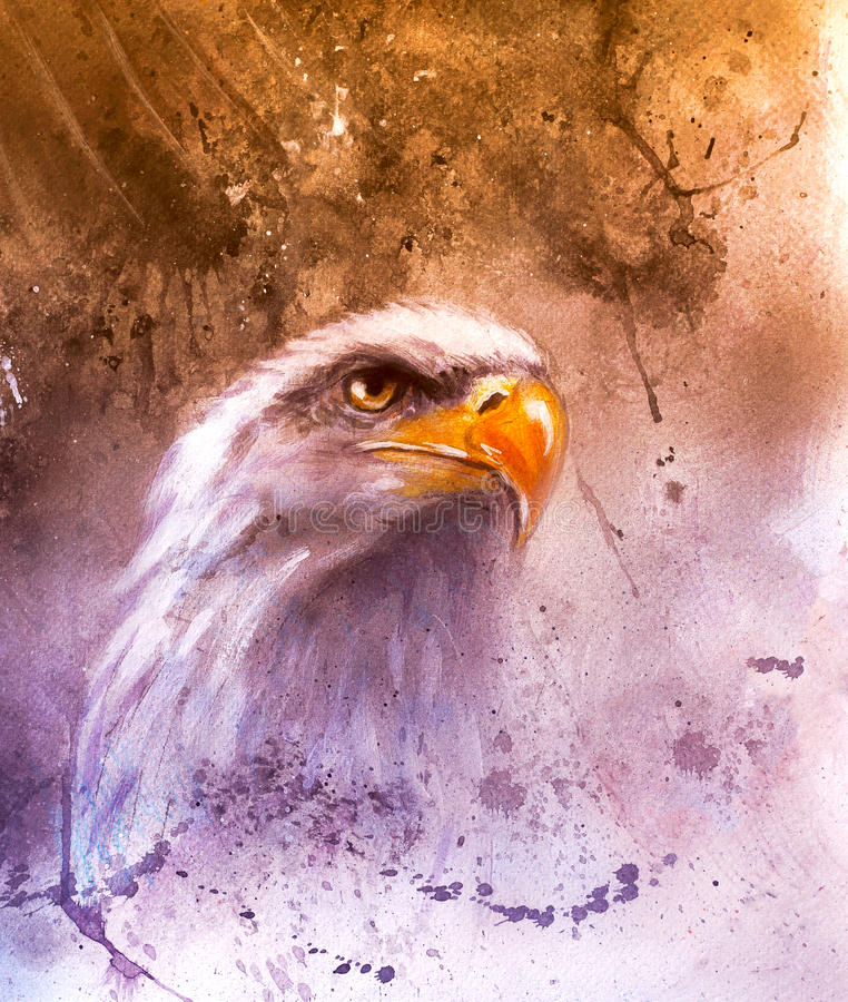härlig målning av två örnar på symboler för en abstrakt begreppbakgrund av USA vektor illustrationer