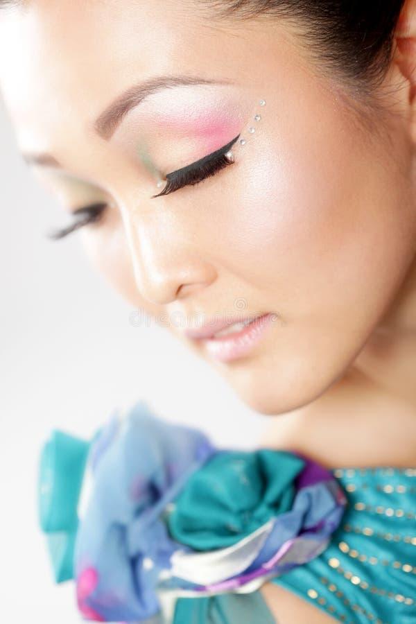 härlig makeup royaltyfria bilder