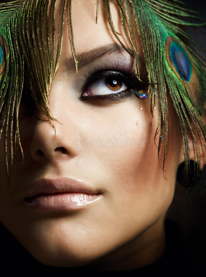 härlig makeup arkivbild