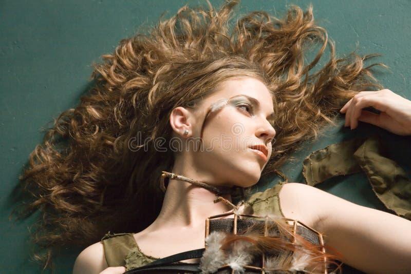 härlig makeup fotografering för bildbyråer