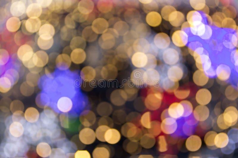 Härlig mjuk flerfärgad bokehbakgrund Passande Defocused ljus royaltyfri fotografi