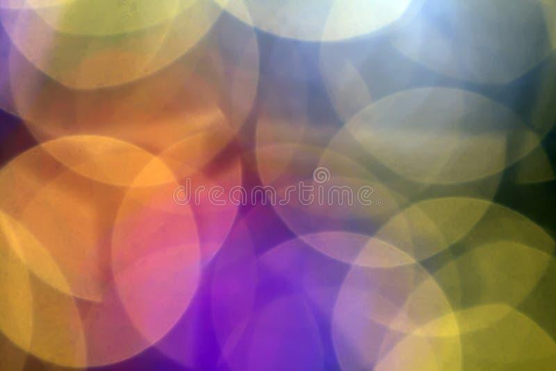 Härlig mjuk flerfärgad bokehbakgrund Passande Defocused ljus arkivfoto