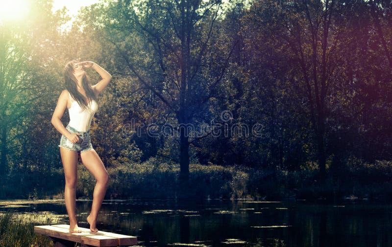 härlig modell fotografering för bildbyråer