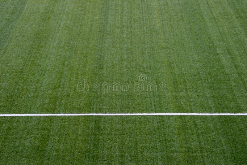 härlig modell av nytt grönt gräs för fotbollsporten, footb arkivbilder