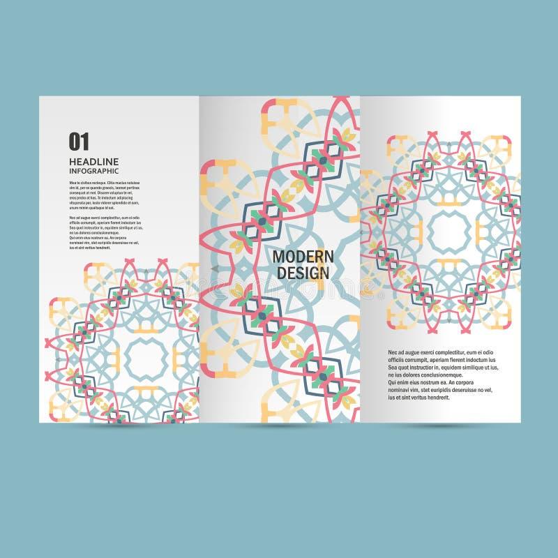 Härlig modell för vektormodell på utskrivaven produkt Planlägg för böcker, baner, sidor som annonserar stock illustrationer