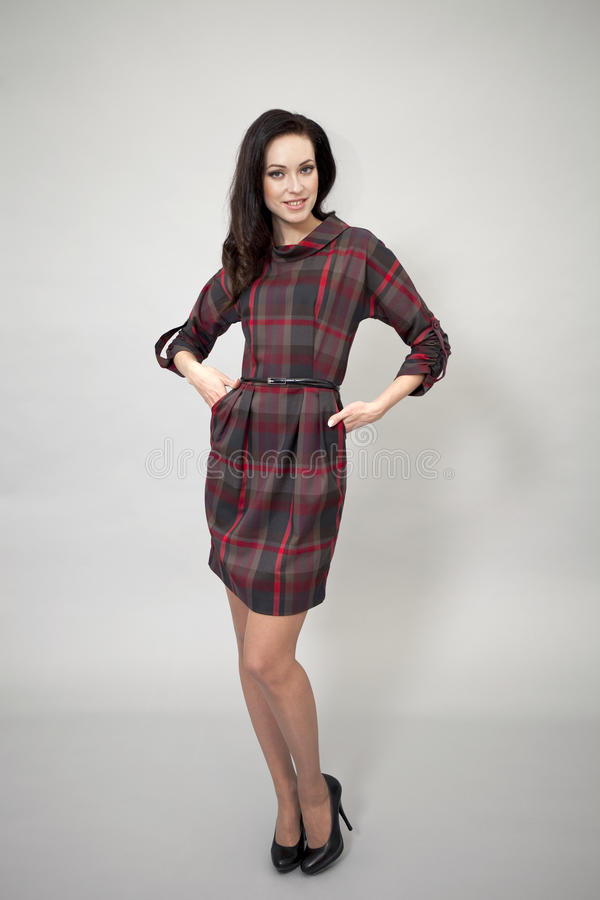 Download Härlig Modell I Modeklänning Arkivfoto - Bild av desire, mänskligt: 37346824